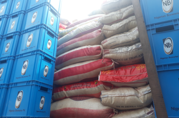 Customs CG's Strike Force Impounds five trucks of smuggled rice in one week